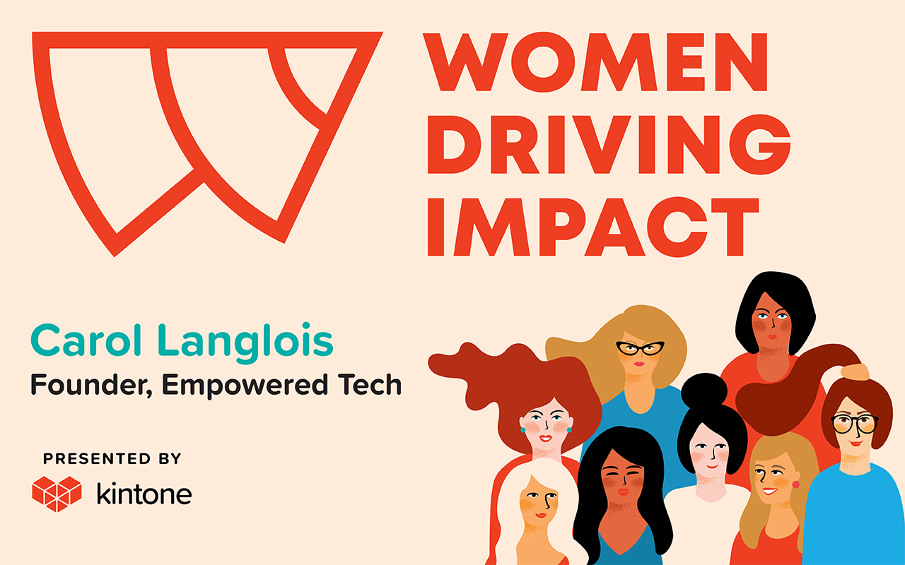 Women driving impact logo