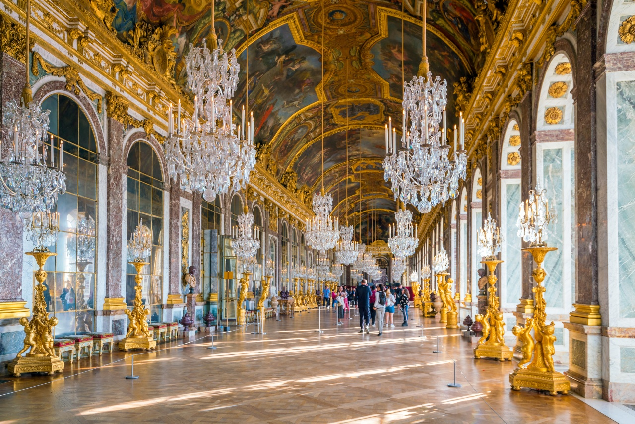 inside the Hall of Mirrors at the Palais de Versailles in France