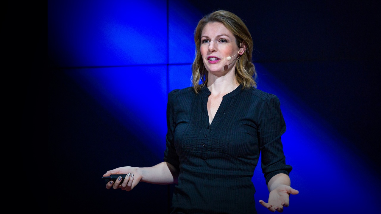 Dr. Kate Darling speaking at a TED event